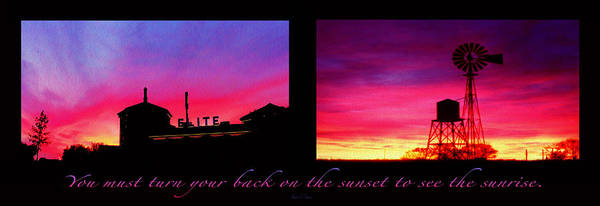 Sunset Poster featuring the photograph From Sunset To Sunrise by Robert J Sadler