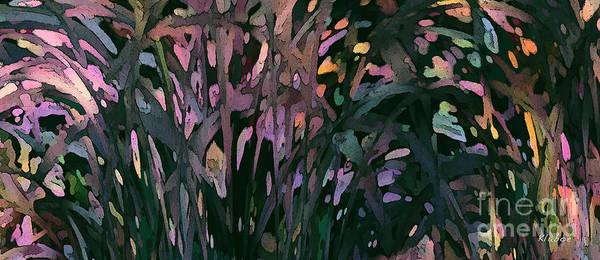 Reeds Poster featuring the digital art Reeds by David Klaboe