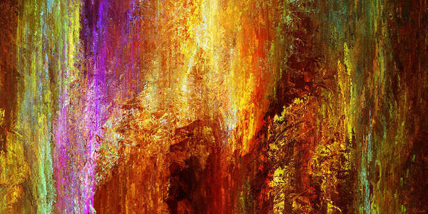 Large Abstract Poster featuring the painting Luminous - Abstract Art by Jaison Cianelli