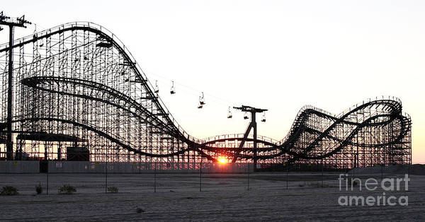 Roller Coaster Poster featuring the photograph Roller Coaster by John Rizzuto