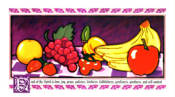 Fruit Of The Spirit Poster featuring the painting Fruit Of The Spirit by Brett H Runion