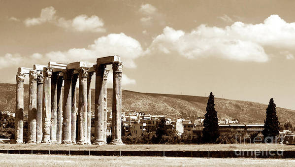 Temple Of Zeus Poster featuring the photograph Temple Of Zeus by John Rizzuto