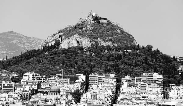 Mount Lykavittos Poster featuring the photograph Mount Lykavittos by John Rizzuto