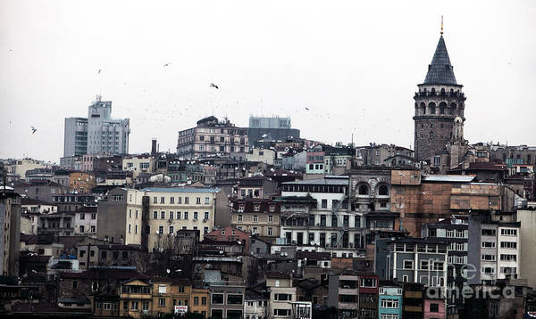 Istanbul Buildings Poster featuring the photograph Istanbul Buildings by John Rizzuto
