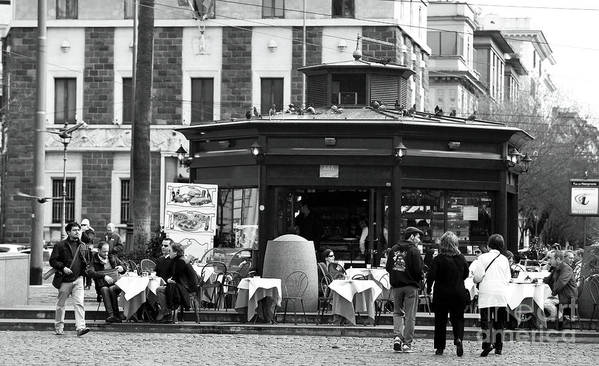 Roma Cafe Poster featuring the photograph Roma Cafe by John Rizzuto