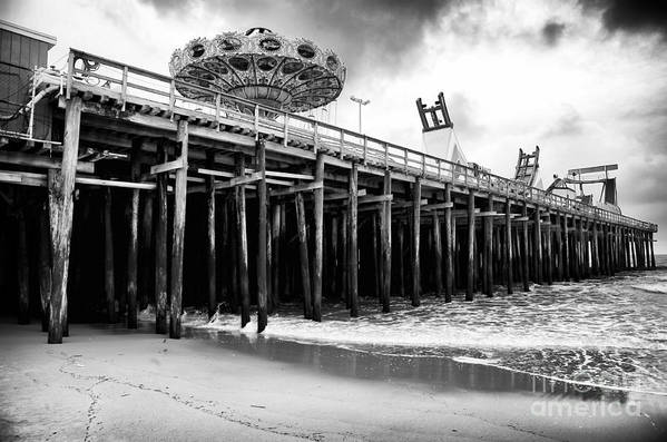 Seaside Pier Poster featuring the photograph Seaside Pier by John Rizzuto