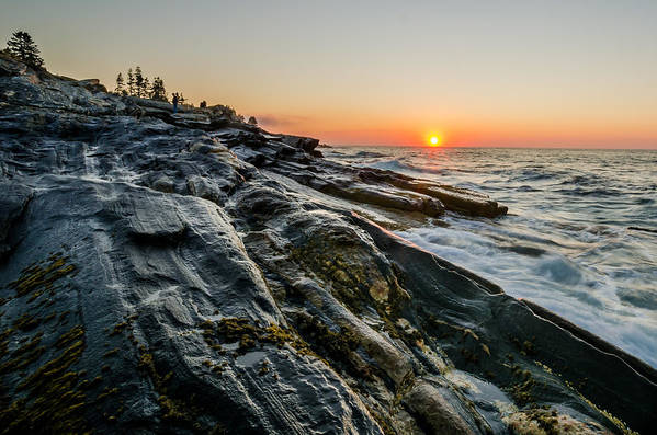 Maine Poster featuring the photograph Sun Breaks At Pemaquid Point by At Lands End Photography