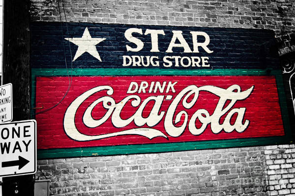 Coke Poster featuring the photograph Star Drug Store Wall Sign by Scott Pellegrin