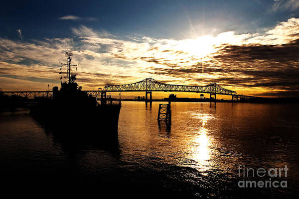 Sunset Poster featuring the photograph Bright Time On The River by Scott Pellegrin