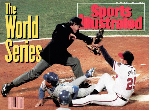 Atlanta Poster featuring the photograph Atlanta Braves John Smoltz, 1992 World Series Sports Illustrated Cover by Sports Illustrated