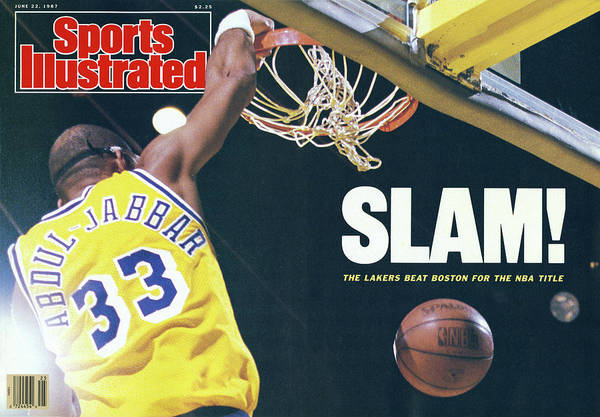 Magazine Cover Poster featuring the photograph Slam The Lakers Beat Boston For The Nba Title Sports Illustrated Cover by Sports Illustrated