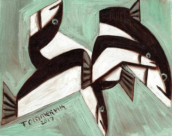 Fish Poster featuring the painting Tommervik Abstract Fish by Tommervik