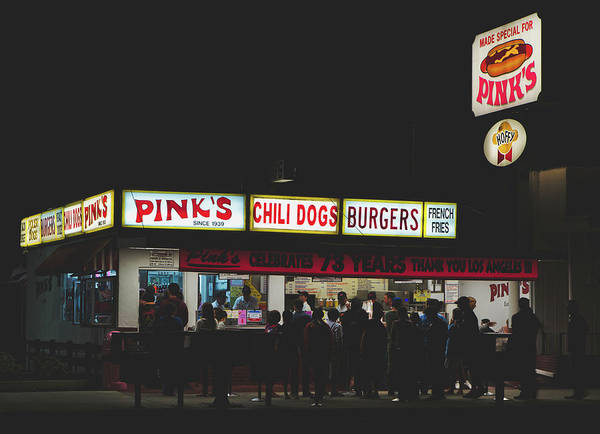 Pink's Hot Dogs Of Hollywood by Mountain Dreams