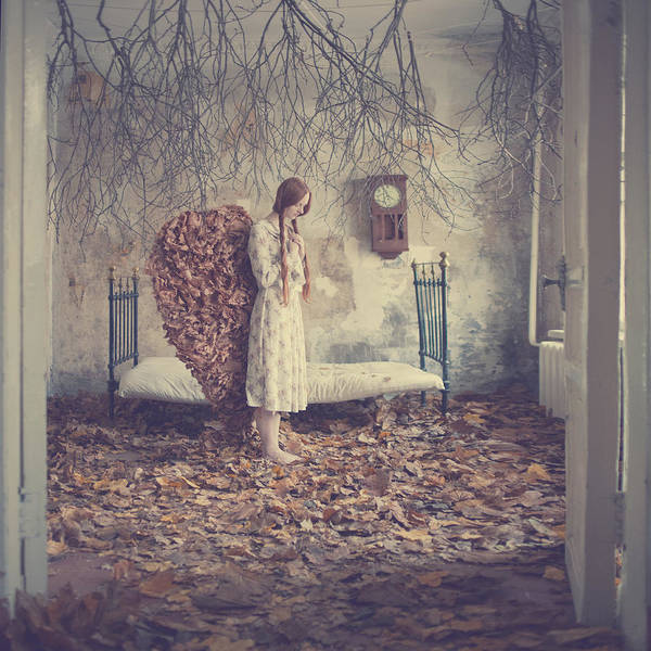 Poster featuring the photograph The Autumn Angel by Anka Zhuravleva