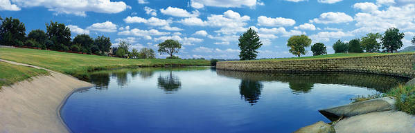 Clouds Poster featuring the photograph Lakeridge Duck Pond by Robert Hudnall
