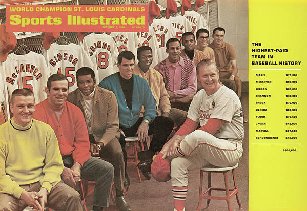 St. Louis Cardinals Poster featuring the photograph St. Louis Cardinals, 1968 World Series Champions Sports Illustrated Cover by Sports Illustrated