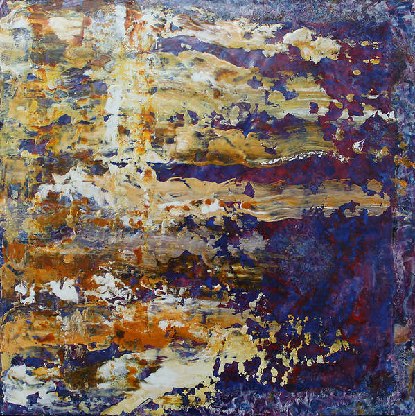 Abstract Poster featuring the painting Abstract 4711 by Detlef Gotzens