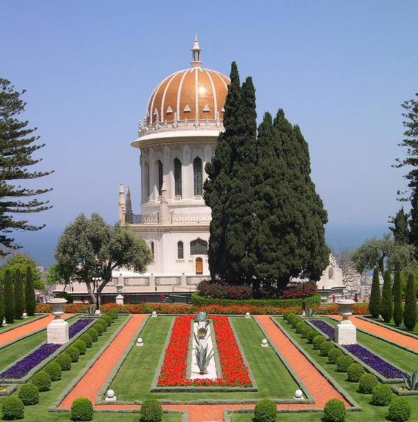 Israel Poster featuring the photograph Bahai Gardens by Susan Heller