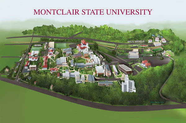 Montclair State University Poster featuring the painting Montclair State University by Rhett and Sherry Erb