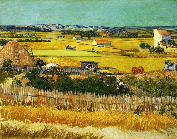 Post Modern Art Poster featuring the digital art Blend 17 Van Gogh by David Bridburg