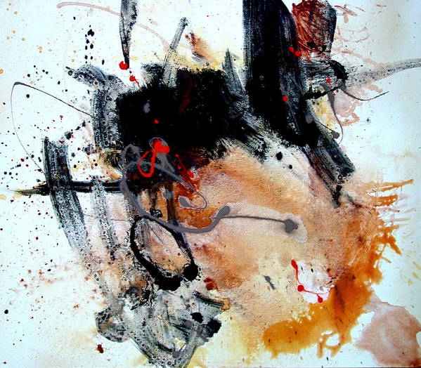 Abstract Poster featuring the painting Resolving Issues by Dale Witherow