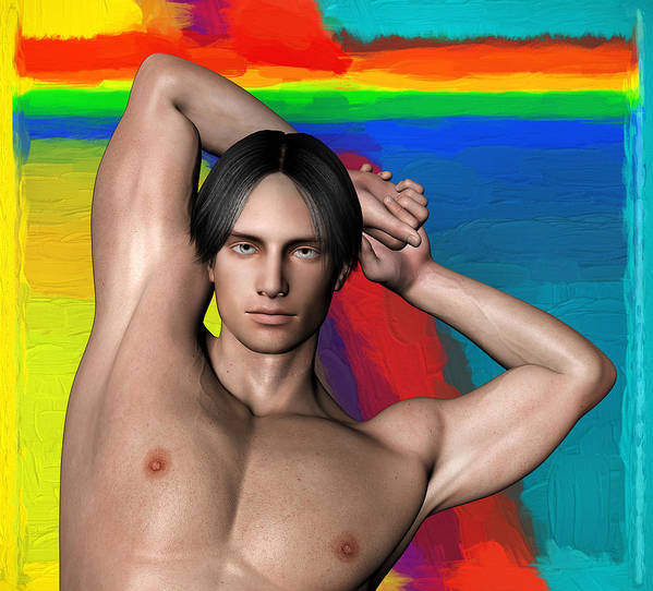 Person Poster featuring the digital art Studio Man Render 27 by Carlos Diaz