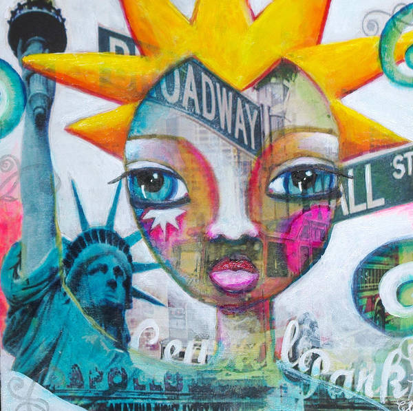 Poster featuring the painting New Liberty by Pascale Hutt