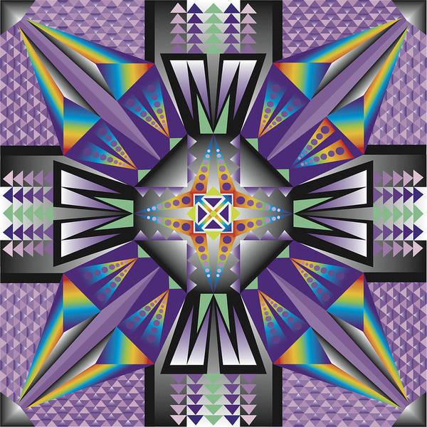 Optical Geometric Visual Digital Art Giclee Print Poster featuring the digital art Sharp Tile Art by James Sharp