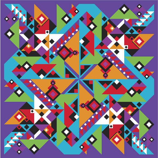 Optical Geometric Visual Digital Art Giclee Print Poster featuring the digital art Southwest 1 by James Sharp