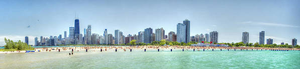 Chicago Poster featuring the photograph Chicago North Avenue Beach by Patrick Warneka