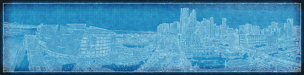 Aaa Poster featuring the photograph Blueprint Of Downtown Miami by Joe Myeress