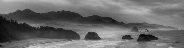 haystack Rock Poster featuring the photograph Ecola State Park - Oregon State Coast by Daniel Hagerman