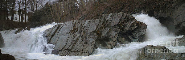 Andscape Poster featuring the photograph Petersburgh Falls by Alan Del Vecchio