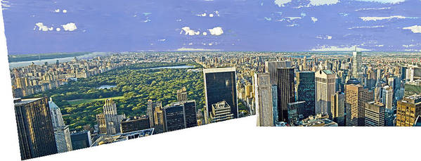 Cityscape Poster featuring the photograph Central Park Panoramic by Allan Einhorn
