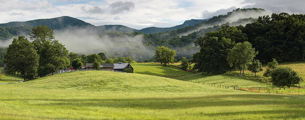Bakersville Poster featuring the photograph Summer Morning At Bakersville North Carolina by Keith Clontz