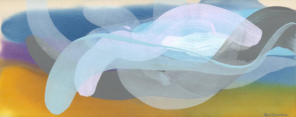 Abstract Poster featuring the painting Sleep In Past 8 by Claire Desjardins