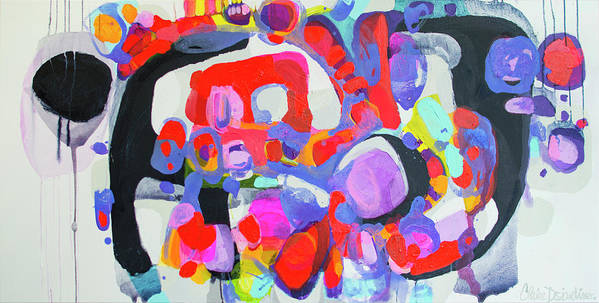 Abstract Poster featuring the painting Try Me by Claire Desjardins