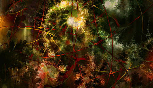 Abstract Poster featuring the digital art Bridges To Inner Sanctums by Stephen Lucas