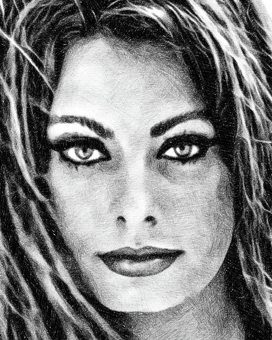 Sophia Loren, Vintage Actress by JS by Esoterica Art Agency