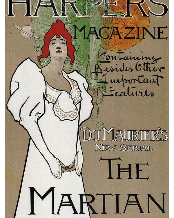 Harper's Magazine - The Martian - Vintage Art Nouveau Poster by Studio Grafiikka