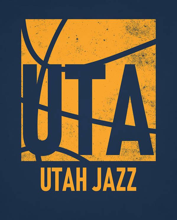 Utah Jazz City Poster Art by Joe Hamilton