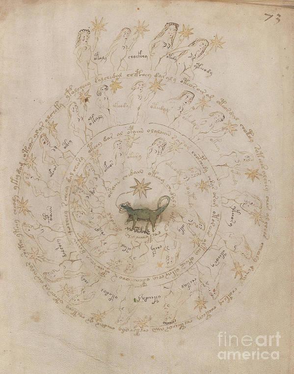Voynich Manuscript Astro Scorpio by Rick Bures