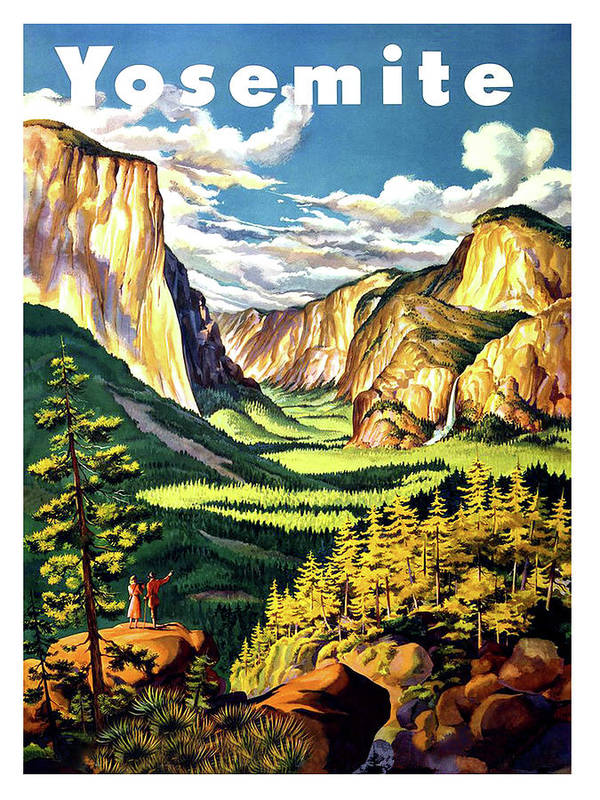 Yosemite, National park, vintage travel poster by Long Shot