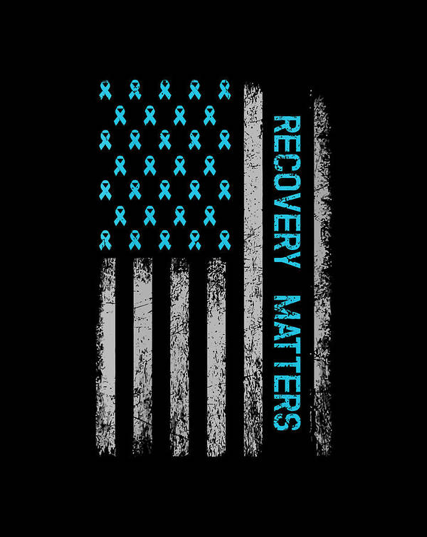 Drug Alcohol Addiction Recovery Warrior - American Flag Gift Items by Linh Nguyen