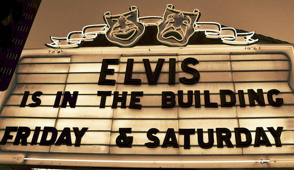 Elvis Presley Poster featuring the photograph Elvis Is In by David Lee Thompson