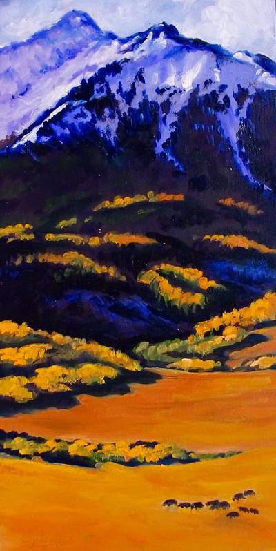 Mountains Poster featuring the painting High Country 10108 by Carol Nelson