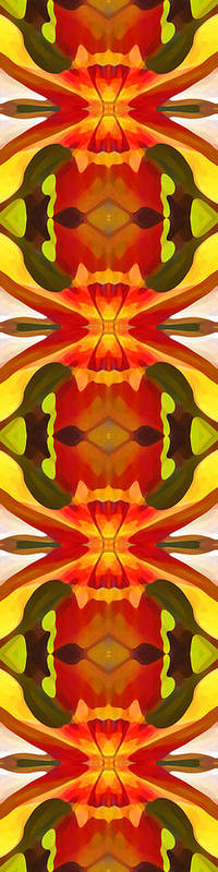 Abstract Poster featuring the painting Tropical Leaf Pattern 17 by Amy Vangsgard