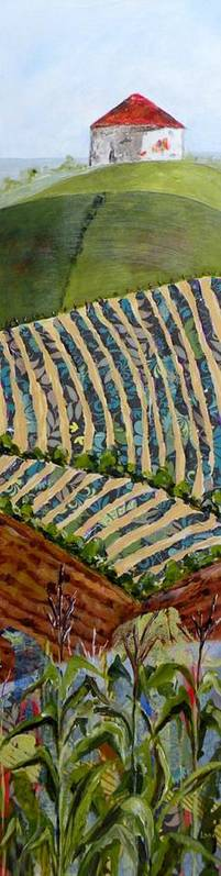 Nebraska Landscape Poster featuring the painting Nebraska by Saundra Lane Galloway