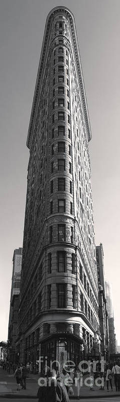 Flat Iron Building Poster featuring the photograph Flat Iron Building by Gregory Dyer