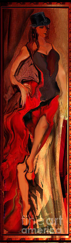 Woman Poster featuring the painting Debut In Red by Anne Weirich